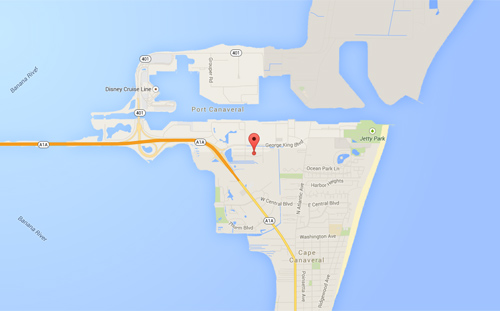 Port Canaveral, FL Map